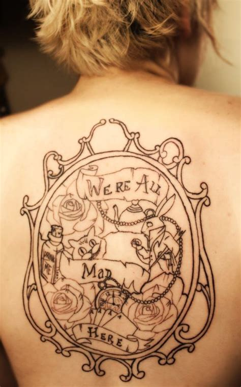 we re all mad here tattoo in were all mad here www
