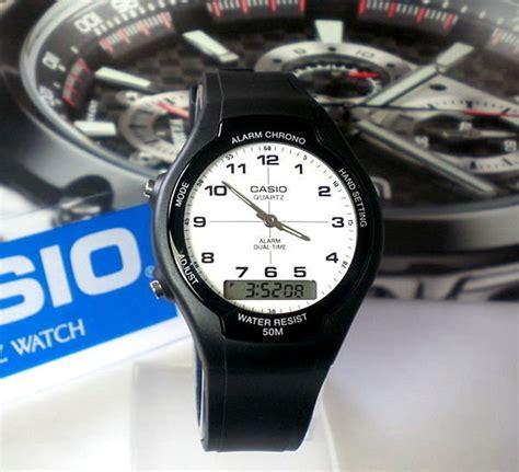 Jam Tangan Pria Casio Aw 90h 2b Original Keren Gaul Murah Kerja Outd jam tangan pria casio original aw 90h 7b anti air water resistant analog dual time apa saja ada