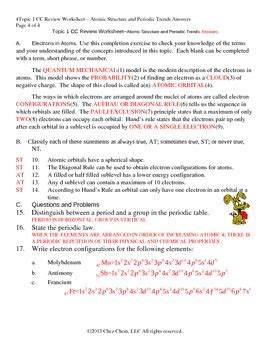 6 3 periodic trends section review worksheet answers topic 1 cc review worksheet answers by chez chem tpt