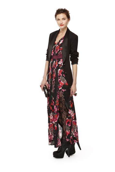 Maxi Dres And Blazer floral maxi dress and blazer combo kirna zabete for
