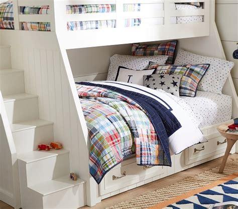 madras comforter set madras quilted bedding pottery barn kids