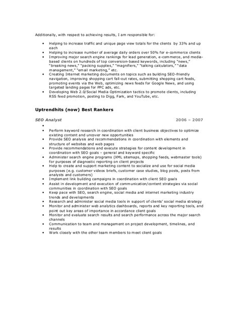 ppc resume 28 images professional ppc expert templates