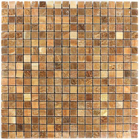 Naturstein Fliesen Polieren by Mosaikfliesen Marmor Braun Poliert 15x15x7mm Ht88180m