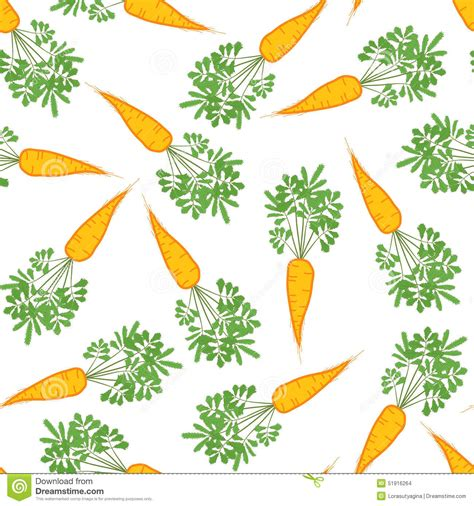 Seamless Carrot Texture. Endless Vegetable Background
