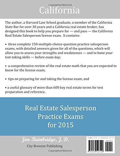 california real estate prep the complete guide to passing the california real estate salesperson license the time books images