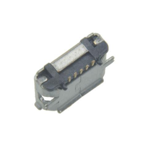Smt Soket Micro Usb 5 Pin Konektor Tipe B 100pcs micro usb type b 5pin smt socket
