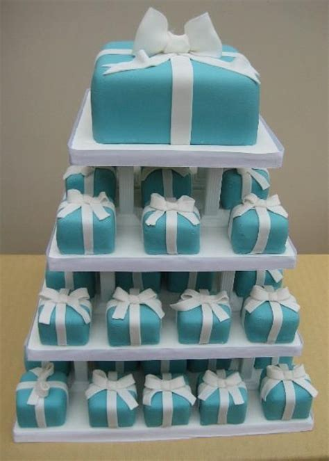cakechannelcom world  cakes tiffany blue mini wedding cakes