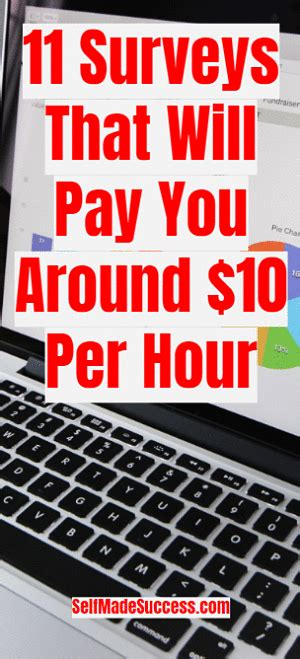 Survey Websites That Pay You - 11 survey sites that will pay you around 10 per hour self made success