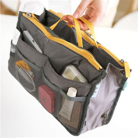 Korean Duals Bag Purse Organizer Bag In Bags korean travel insert handbag organiser purse large organizer tidy bag ebay