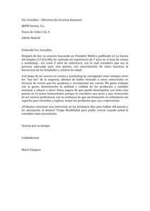Modelo De Carta De Presentacion Para Curriculum Modelos De Carta De Presentaci 243 N Modelo Curriculum