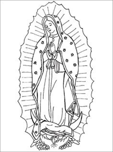 10 Imagenes De La Virgen De Guadalupe Para Colorear Our Of Guadalupe Coloring Page