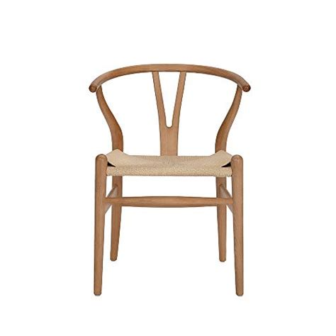amazoncom wishbone chair  chair solid wood dining chairs rattan armchair natural beech