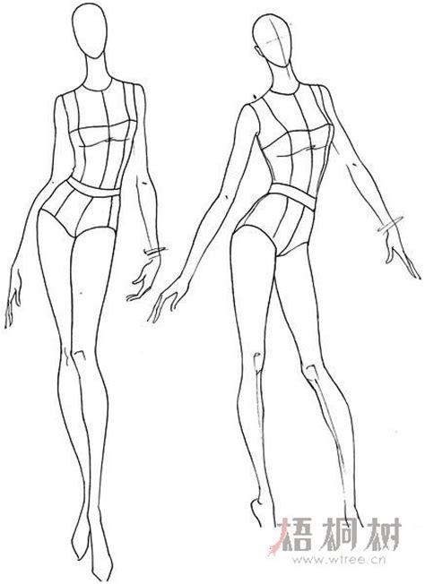 效果图人体结构 图案设计 灵感分享 梧桐树网 服装设计师网站