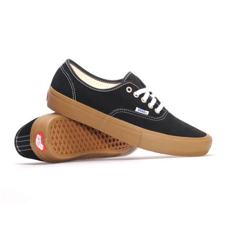 Jual Vans Authentic Black Gum vans authentic pro black light gum s skate shoes