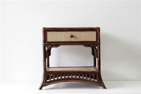 vintage bedroom table ls plantation 1 drawer table naturally cane rattan and