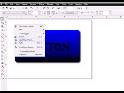 tutorial corel draw x4 glass button coreldraw x4 tutorial youtube