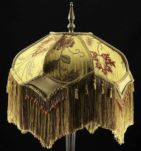 vintage silk l shades victorian lamp shade heavy embroidered fabric w gold silk