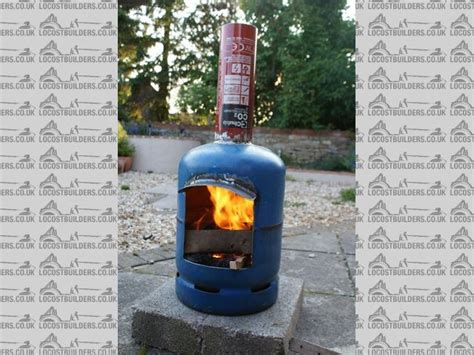 gas cylinder chiminea cutting a gas bottle open
