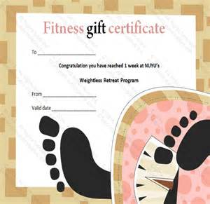 Weight Loss Certificate Template by 7 Fitness Gift Certificate Templates Free Sle