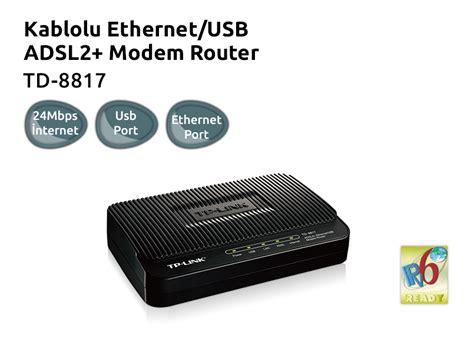 Modem Router Td 8817 tp link td 8817 kablolu ethernet usb firewall destekli qos fiyat