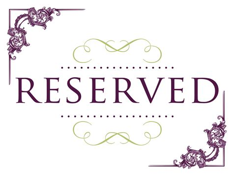 Reserved Seating Signs Cake Ideas And Designs Reserved Table Sign Template