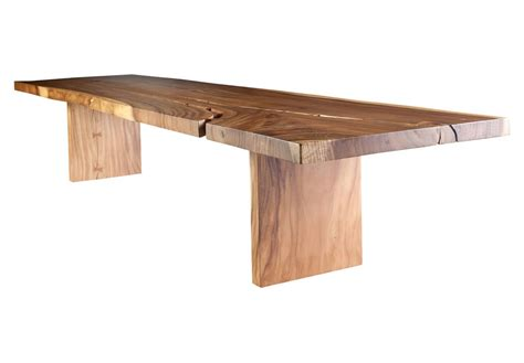 L For Dining Table 167 Quot L Acacia Slab Solid Wood Dining Table Modern Contemporary 66ht Ebay