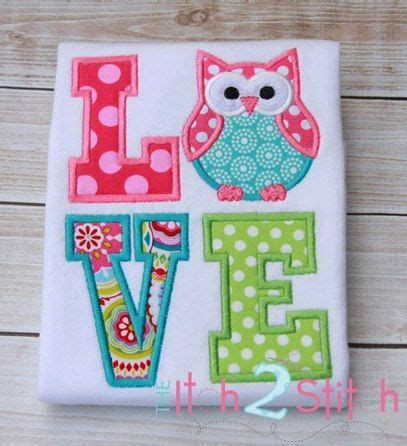 design house decor etsy owl love applique t shirt sle by kidsatelier on etsy