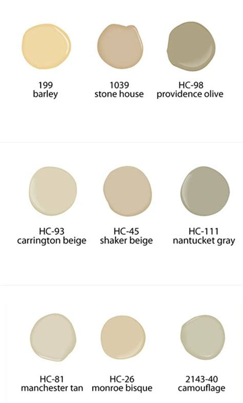 neutral paint colors from benjamin paints for the home neutral paint