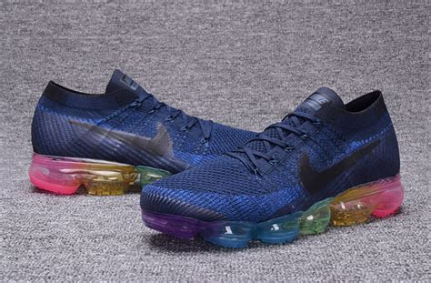 Sneakers Sepatu Nike Air Vapormax Betrue Rainbow Blue Import Premium nike air vapor max ply knit 2018 breathable s s running shoes rainbow blue 849558