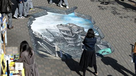 3d illusion l trompe l oeil 3d illusion brings syria to streets of