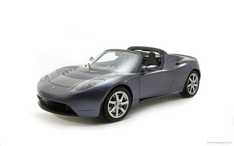Tesla Car Wallpaper Hd by Tesla Roadster Sports Car Hd Wallpapers