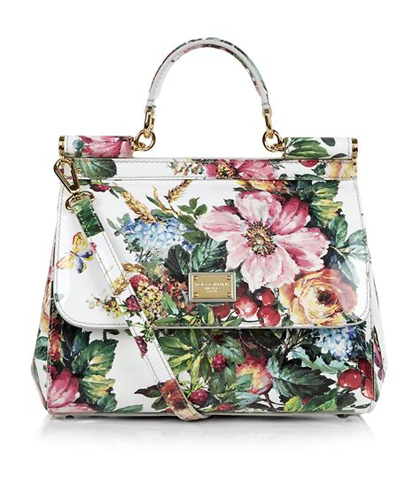 Dg Dolce And Gabbana Floral Canvas Satchel by Dolce Gabbana Miss Sicily Mediterranean Floral Bag In