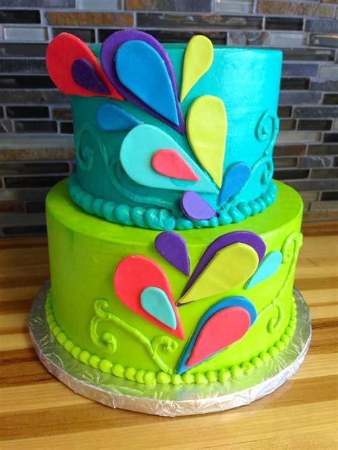 colorful birthday cakes peacock birthday cake colorful cake birthday cakes
