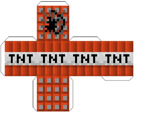 minecraft tnt block template tnt foldable paper craft minecraft tnt