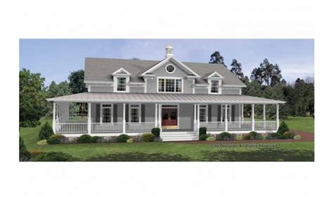 House Plans With Wrap Around Porch by Colonial House Plans With Wrap Around Porches Country