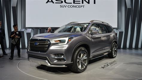 subaru suv 2018 subaru ascent suv revealed in york the drive