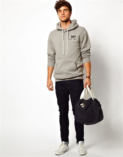 Jw Hodie lyst wills hoody with jw back print in gray for