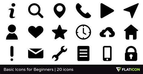 Basic Icon basic icons for beginners 20 free icons svg eps psd