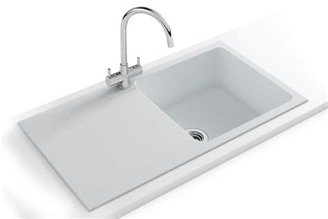 sinks and taps kitchen franke orion propack oid 611 94 tectonite polar white sink