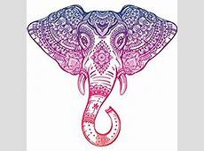 Amazon.com: DETAILED MANDALA DESIGN BLACK WHITE Vinyl ... Indian Elephant Henna Drawing
