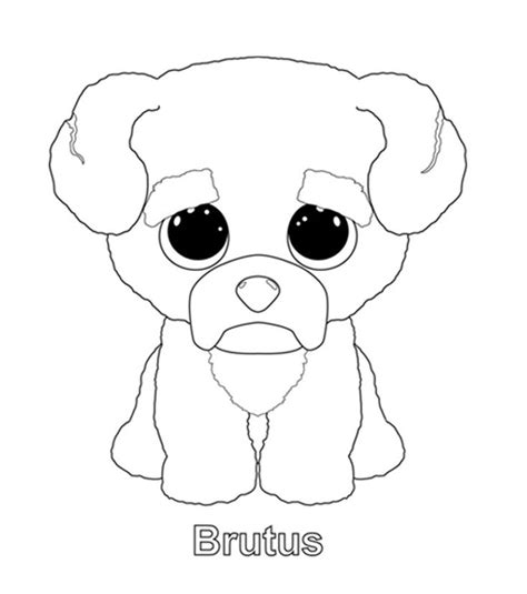 ty beanie boos free coloring pages