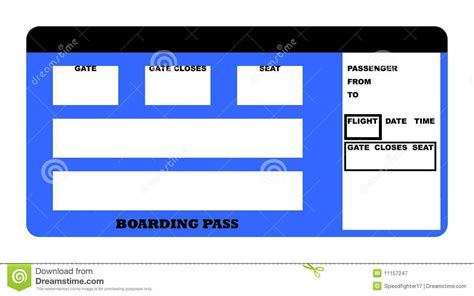 boarding pass royalty  stock photography image