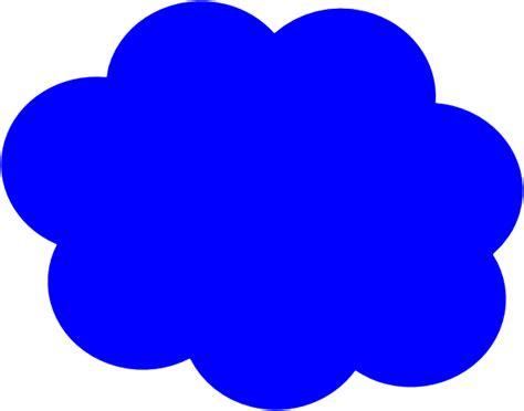blue clip blue cloud clip at clker vector clip
