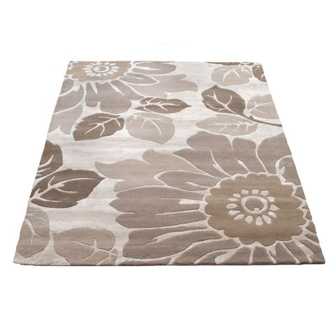 large rug large indian summer kew wool rug beige 170 x 240cm