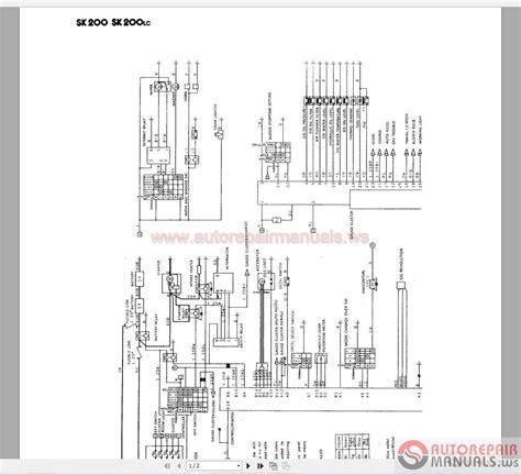 kobelco sk210 wiring diagram volvo excavator wiring