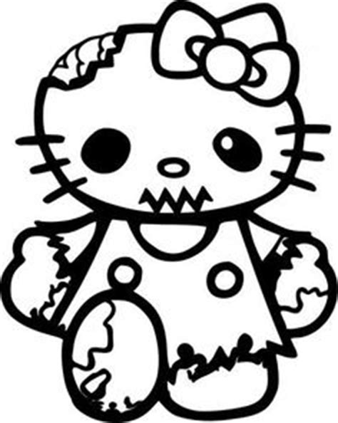 hello kitty zombie halloween coloring pages hello kittie coloring on pinterest hello kitty coloring