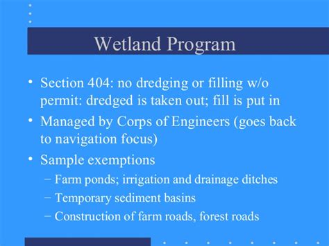 Section 404 Permits by The Clean Water Act