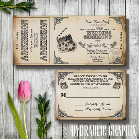 Movie Themed Wedding Invitation Templates Sunshinebizsolutions Com Themed Invitations Free Templates
