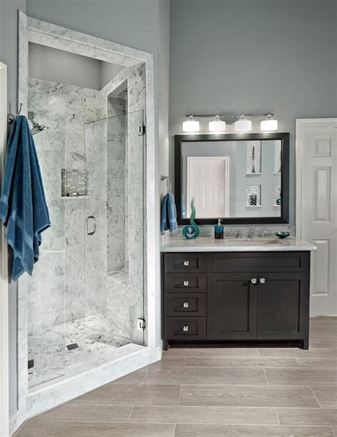modern and traditional bathroom lighting ideas the new way home decor walk in shower transitional bathroom dallas by usi