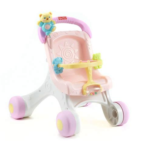 Bugy Walker Fisher Price fisher price my stroll play walker baby push along pram buggy pushchair ebay